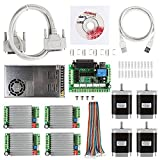 SainSmart CNC 4-Axis Kit with TB6600 Motor Driver, Paralle Interface Breakout Board, Nema23 270 Oz-in Stepper Motor and 24V Power Supply (CNC Kit 3)