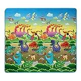 Smibie Baby Spielteppich Spielmatte wasserdichte Puzzlematte Kinderteppich Zwei Seite für Innen/Außen Dinosaurier und Auto