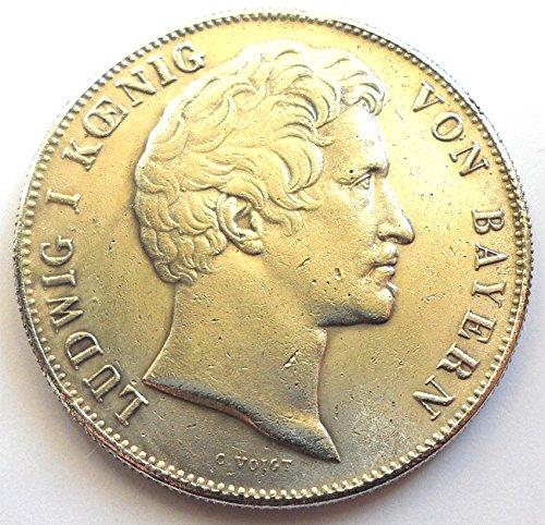 Münze Altdeutsch Königreich Bayern - Ludwig I Geschichtsdoppeltaler 1844 München REPLICA