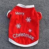 KINGDUO Vestiti Di Inverno Di Natale Cane Gatto Caldo Pullover Ricamato Abito Costume Di Cappotti Per Cucciolo Cani -# 02 L