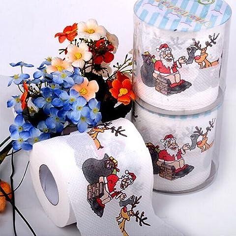 BestMall Santa Claus Frohe Weihnachten WC-Papier Tisch Wohnzimmer