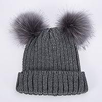 Eizur Cappello inverno per Donna con Pom Pom Caldo Berretto in Maglia  Ragazza Beanie Cappellino Capelli fdd9d8122e4e