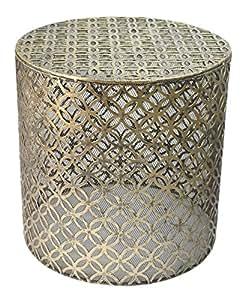 beistelltisch couchtisch nachttisch telefontisch sofatisch hocker metall antik gold. Black Bedroom Furniture Sets. Home Design Ideas