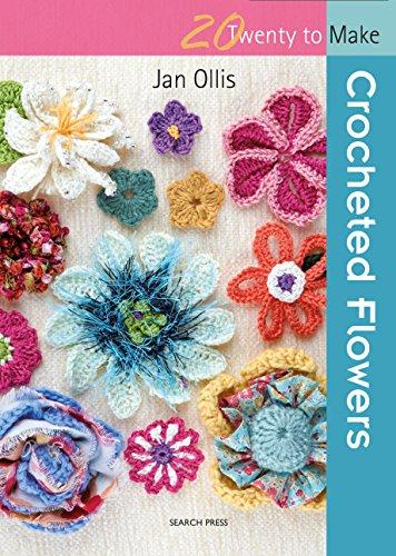 Crocheted Flowers (Twenty to Make) (Blue Hibiscus)