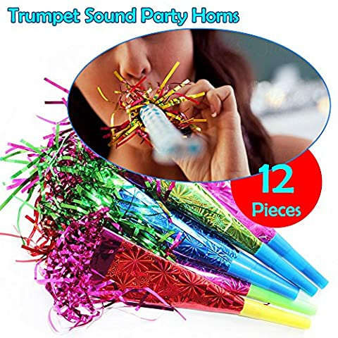 Birthdays, Christmas, New Year, Carnival, Parties, Occasion - Horns, Blowers, trumpet sound, Noise Toy, Foil Assorted Color Blowouts