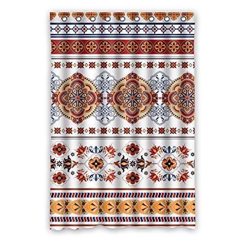 "Colorful Flower Grain Simmetria design pattern poliestere tessuti impermeabile bagno doccia tenda 121,9x 182,9cm (120cm x 183cm), Poliestere, A, 48"" x 72"""
