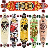 Longboard Skateboard MARONAD drop through Race Cruiser ABEC-11 Skateboard 104x24 cm Streetsurfer patinar FUN, Modell Streetsurfer - Hawaii