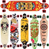 Longboard Skateboard MARONAD drop through Race Cruiser ABEC-11 Skateboard 104x24 cm Streetsurfer patinar FUN, Modell Streetsurfer - Hawaii