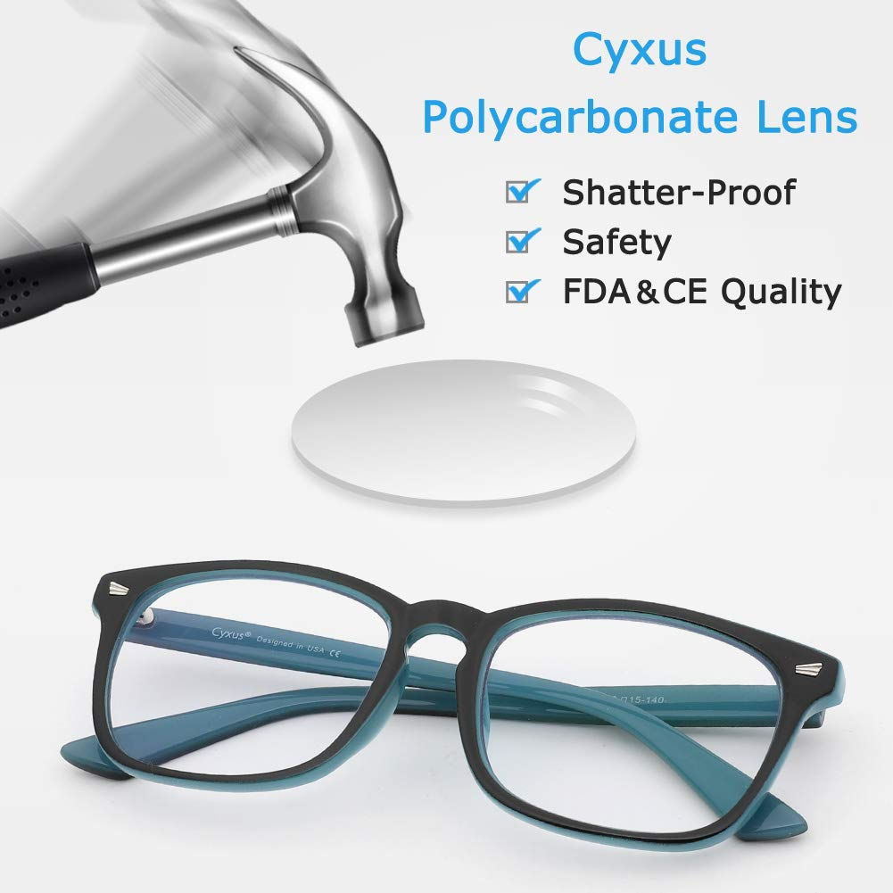 73a1688129c Cyxus Blue Light Filter Computer Glasses for Blocking UV Headache ...