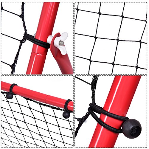 GYMAX Football Training Net Pro Rebounder Net Soccer Kickback Target Goal Play Teaching Children