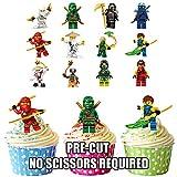 Essbare Kuchendekoration, Motiv: Lego Ninjagos, 12 Stück
