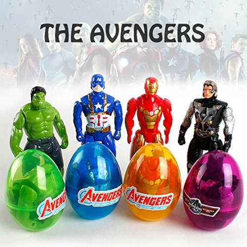 DIY House Large Superhero Party Bag Fillers Superhero Action Figure Toys Party Favours or Kids Stocking Fillers for Children (4pack)