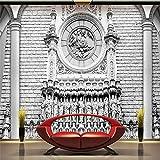 Xbwy Tapeten 3D L Dekor Foto Hintergrund Fotografie Stereo Klassische Architektonische Skulptur Luxus Sallor Wandmalerei L-280X200Cm