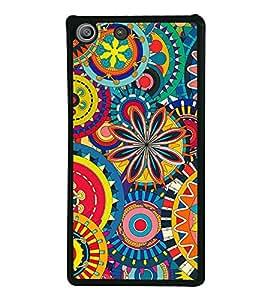 Multi colour Pattern 2D Hard Polycarbonate Designer Back Case Cover for Sony Xperia M5 Dual :: Sony Xperia M5 E5633 E5643 E5663