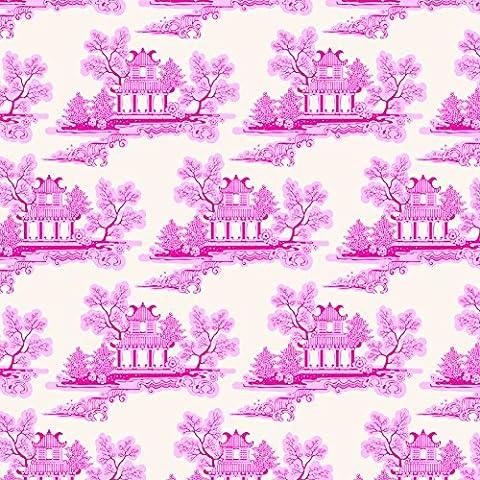 Tilda - Country Escape, tessuto, motivo: Cina, colore: rosa