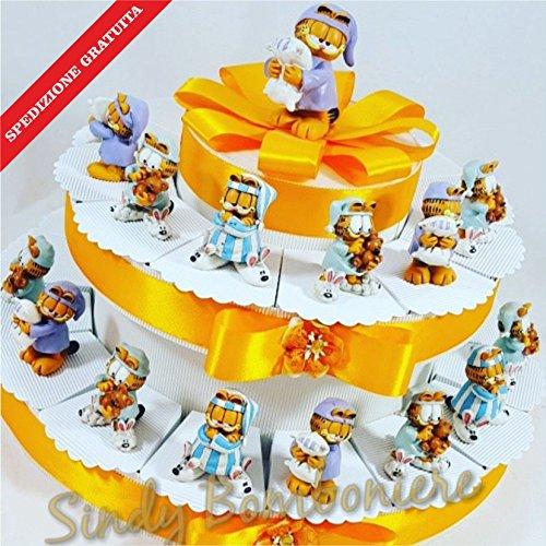Bomboniera per compleanno nascita bimbo garfield gattino dormiglione spedizione inclusa walt disney (torta da 28 fette)