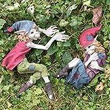 Pixie Paar Wand Vorlagen Junge & Mädchen Magical Mystery Hohe Qualität Garten Decor Skulptur Elfe & Fairy Kinder Set 2Stück Höhe: 20cm