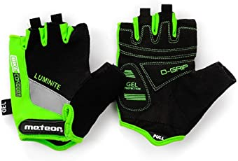 meteor radhandschuhe MTB Handschuhe Herren Gel GX31 Green fahrradhandschuhe Mountainbike Handschuhe - Radsport Handschuhe Damen - Radsporthandschuhe Downhill Wandern Fahrrad Handschuhe Kinder