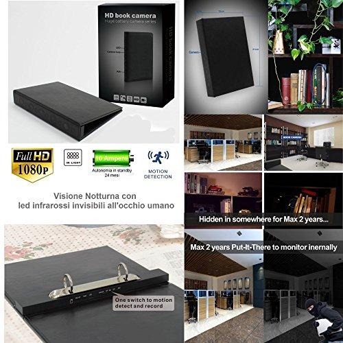 Microspia Audio Video HD BlackBox MicroTelecamera Spia a Batteria Lunga Durata + Infrarossi Invisibili Occhio Umano