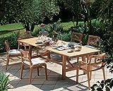 dafnedesign. COM–Gartentisch aus Teakholz–Abmessungen cm 230x 100H73–Tisch Synthesis rechteckig ausziehbar cm 100x 230cm 100x 300von Teak