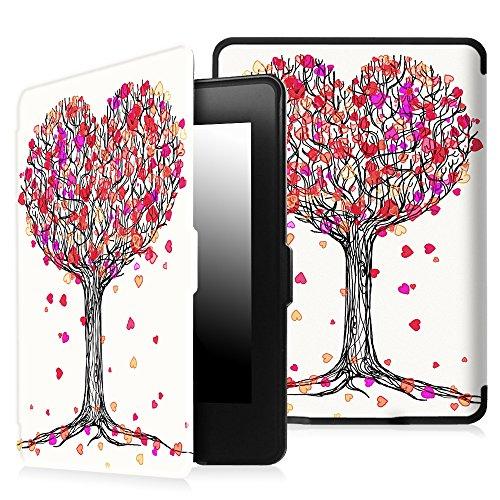 Fintie Etui Kindle Paperwhite - étui Flip en cuir super fin et léger, fermeture magnétique avec mise en veille automatique pour Amazon All-New Kindle Paperwhite (Convient à touts les versions: 2012, 2013 et 2015 New 300 PPI) - Autumn Love