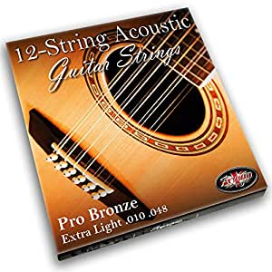 adagio pro 12 string acoustic guitar strings 12 string bronze 80 20 extra light gauge 010. Black Bedroom Furniture Sets. Home Design Ideas
