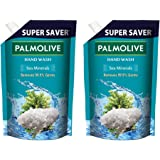 Palmolive Naturals Sea Minerals Liquid Hand Wash, 750ml Refill Pack, Remove 99.9% of Germs, Refreshing Fragrance (Pack of 2)