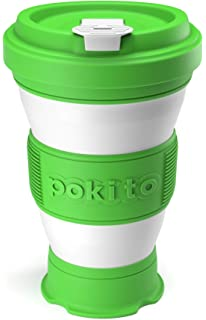 Collapsible Coffee Cup Reusable Eco Friendly Folding Travel Mug Fits in Pocket or Bag Leak Proof Lid 3 Adjustable Sizes Replace Takeaway Cups