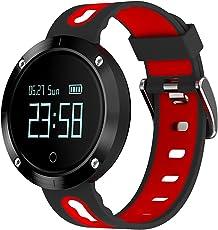 Tigerhu, fitness tracker con schermo grande, con orologio, cardiofrequenzimetro, misuratore di pressione, monitoraggio dell'attività sportiva e del sonno, contapassi, contacalorie, Bluetooth, app localizzatore GPS (lingua italiana non garantita), smartwatch compatibile con smartphone con sistema operativo Android e iOS