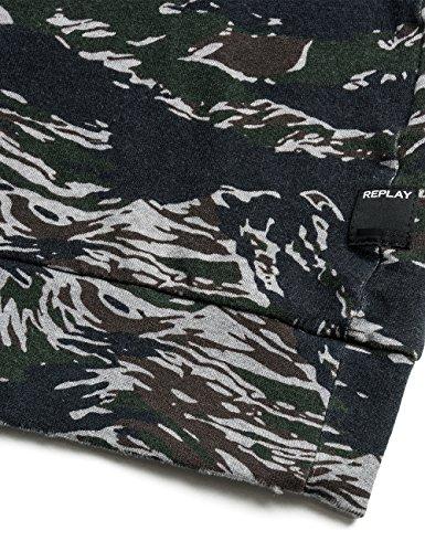 Replay Women's Women's Khaki Sweatshirt 100% Cotton Green