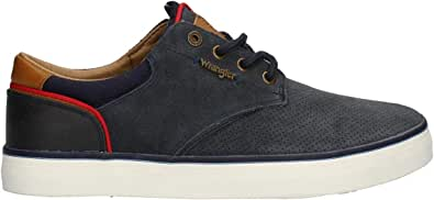Wrangler Monument Suede Trainers Navy