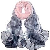 Foulard Donna Seta Sciarpa Leggero Lungo Elegante Naturale 100% Silk Scarf Regalo