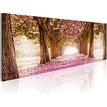 murando Cuadro en Lienzo 135x45 cm - 3 tres colores a elegir - 1 Partes - Formato Grande - Impresion en calidad fotografica - Cuadro en lienzo - Flores Naturaleza Park Floresweg Top lienzo 1 partes c-A-0052-b-b 135x45 cm