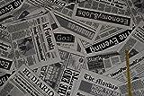 alles-meine.de GmbH 1 m * 1,4 m Stoff Zeitung / Newspaper -
