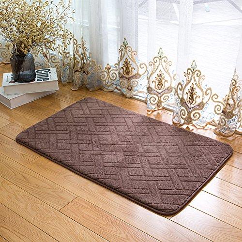 DOTBUY Korallen Samt Fußmatte, Premium Teppich Wohnzimmer Innen und Aussen Fussmatten Rutschfest und Waschbar Praktische Fußabtreter Fussabstreifer Flur Teppich Wohnzimmer