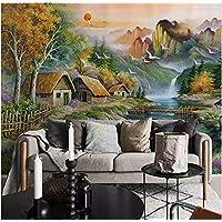 Superieur YFXGSTLI Fototapete Wandtapete Wandbild Tapete Berg Wasser Kleines Chalet  Natur Landschaft Ölgemälde Schlafzimmer Wohnzimmer Wand