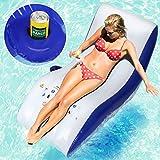 jago Lettino gonfiabile poltrona lounge chaise loungue gonfiabile piscina mare con portabibita