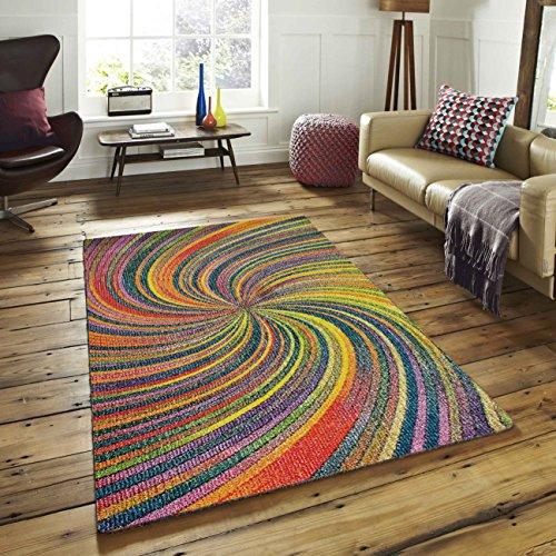 A2z Schnellspanner Teppich Modern Bunt modernes Design Bereich Teppiche Rio Kollektion 5676, Multi 120x 170cm–4'x 5' 6Ft (Teppiche Aus Der Türkei)