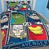 Disney Character Kids niños juego de funda de edredón ropa de cama Marvel nuevo