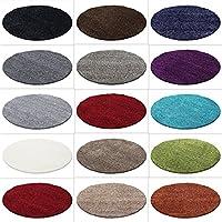 HomebyHome Hochflor Shaggy Rund Teppich Carpet Wohnzimmer Vers. Farben U0026  Größen, Farbe:Lila