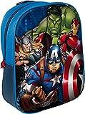 Star Licensing 41875 -  Zaino 3D per bambini, con Avengers Capitan America Hulk Iron Man Thor, 35 cm
