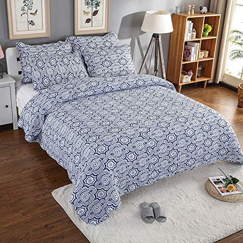 Starsou Wendbare Moderne Tagesdecke Collection Bettdecke 3-Teiliges Gestepptes Quilt-Set Bettüberwurf Sofaüberwurf Waschmaschinenfest,1 Bettbezug 230 * 250cm + 2 Kissenbezüge 50 * 70cm -