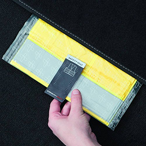 Lifehammer 10474 Sicherheitweste, 4er Set, Ultra flach, Gelb
