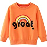 Edjude Sudaderas Cuello Redondo Niña Niño Unisex Otoño Invierno Partes de Arriba Camisetas de Manga Larga Abrigo Jersey 1-7 A