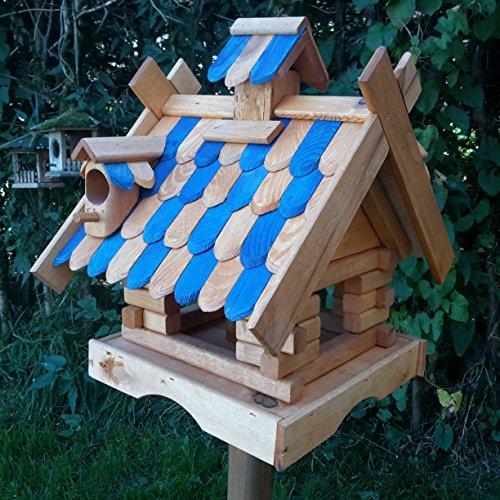Vogelhaus Massivholz Schreinerarbeit Futterhaus Vogelhäuschen --Wetterschutz-- K21aNB
