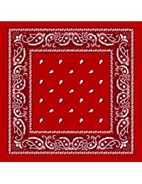 Bandana masque tour de cou - Paisley USA rouge - Airsoft - Paintball - Hip hop - Moto - Country - Outdoor