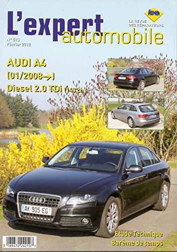 REVUE TECHNIQUE L'EXPERT AUTOMOBILE N° 513 AUDI A4 2.0 TDI 143 CH DEPUIS 01/2008