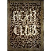 Póster 30 x 40 cm: Fight Club - Rules - Alternative de HDMI2K - impresión artística de alta calidad, nuevo póster artístico