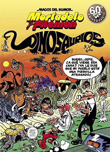 Número 52 de la colección «Magos del humor». La ciudad se llena de dinosaurios y Mortadelo y Filemón deberán eliminarlos. El profesor Bacterio ensaya en el museo de paleontología un invento suyo para eliminar a las termitas, y los genes de dinosaurio...