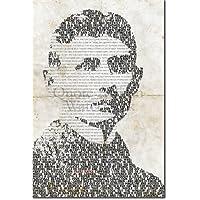 Franz Kafka Kunstdruck - einmaliges typografisches Design - Hochglanz Fotodruck Poster - Maße: 91 x 61 cm
